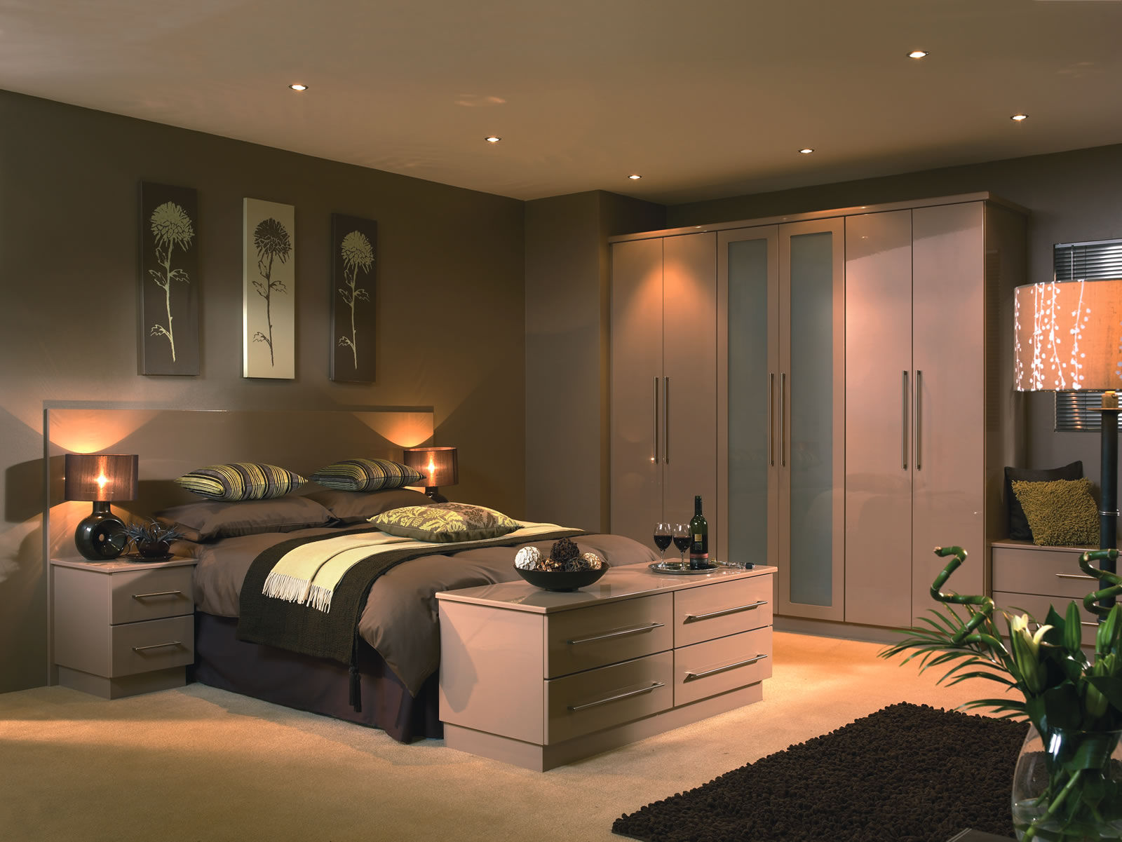 Duleek High Gloss Cappucino   Custom Bedroom Design
