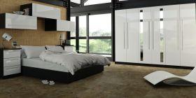 Elle- Bedroom Gloss White